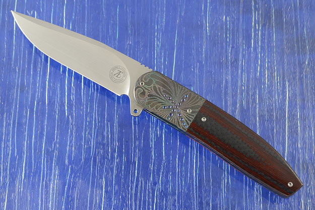 L28L Flipper with Red/Black Carbon Fiber and Engraved Zirconium (IKBS)