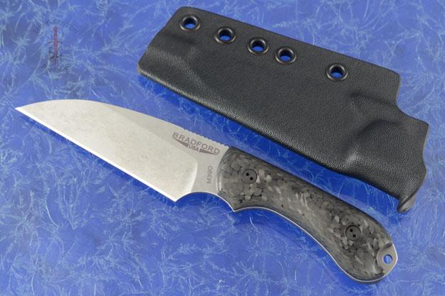 Guardian 3 - 3D Carbon Fiber, Stonewash Blade, Wharncliffe