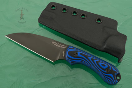 Guardian 3 - 3D Black and Blue G10, DLC Blade, Wharncliffe
