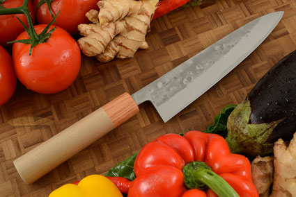 Nashiji Chef's Knife (Gyuto) - 7 1/4 in. (180mm) - Oval Handle