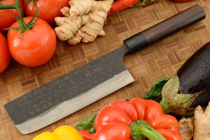 Asai Tojinbo Damascus Chef's Knife - Nakiri - 6-3/4 in. (170mm)
