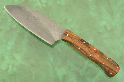 Damascus Chef's Knife - Petite Santoku - (4-1/2 in) with Ironwood