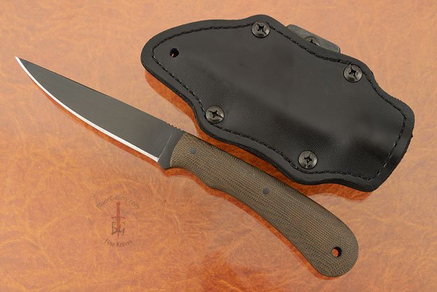 Operator with Green Micarta and Caswell Finish