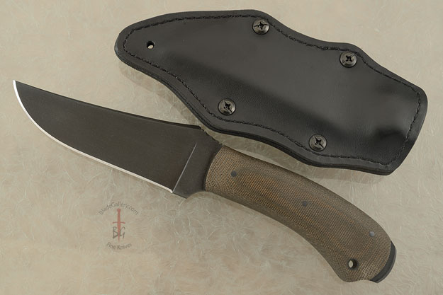 Crusher Belt Knife with Green Micarta and Caswell Finish