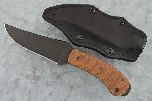Crusher Belt Knife with Sculpted Tan Micarta and Caswell Finish