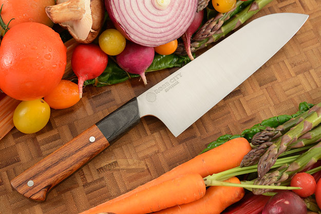 Chef's Knife (Santoku) -- 7-1/4 in. -- with Ironwood -- 52100 Carbon Steel