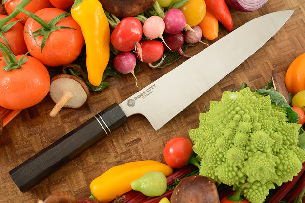 Chef's Knife (Gyuto) -- 10-1/4 in. -- with African Blackwood -- 52100 Carbon Steel