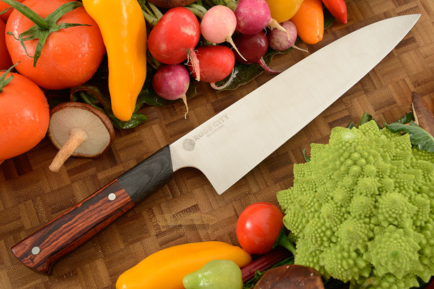 Chef's Knife (Gyuto) -- 8-3/4 in. -- with Cocobolo -- AEB-L Stainless Steel