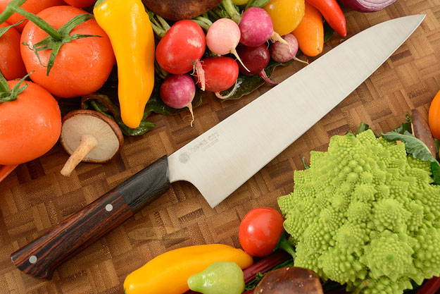 Chef's Knife (Gyuto) -- 9-3/4 in. -- with Cocobolo -- AEB-L Stainless Steel