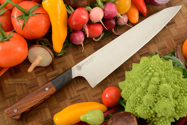 Chef's Knife (Gyuto) -- 9-2/3 in. -- with Cocobolo -- AEB-L Stainless Steel