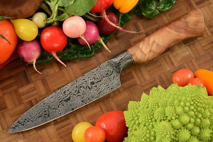 Integral Damascus Slicing Knife (5-1/2