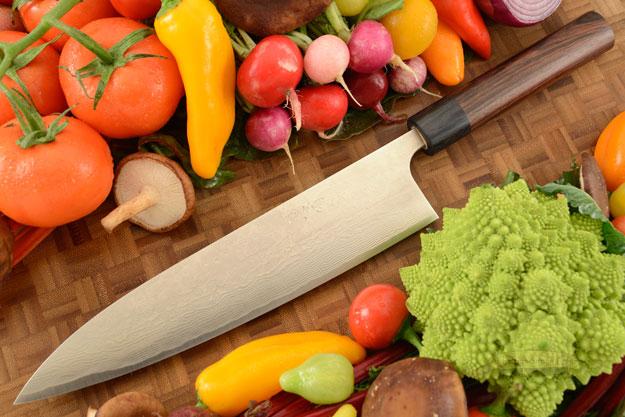 Asai PM Damascus Chef's Knife - Gyuto - 9 1/2 in. (240mm)