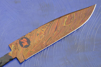 Dragon Mosaic Damascus Blade