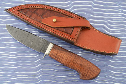 Hunter with Curly Koa and Ladder Pattern Damascus