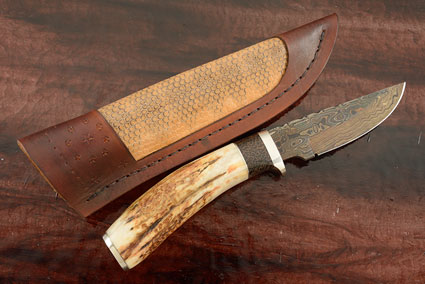 Damascus Hunter with Sambar Stag and Black Palm