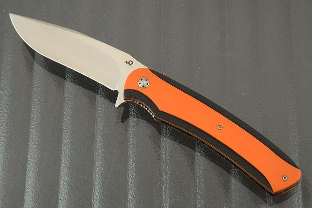 Cruz Flipper with Textured Orange and Black G10 (IKBS)