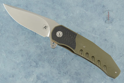 A3 Interframe Flipper with OD Green G10 and Carbon Fiber (Double Row IKBS)