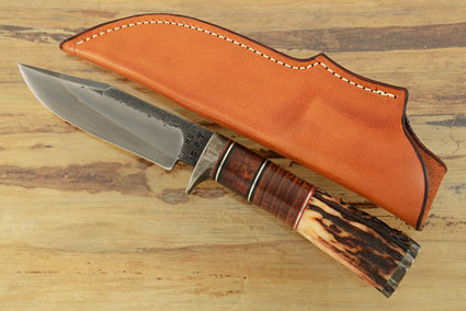 Clip Point Skinner with Stag