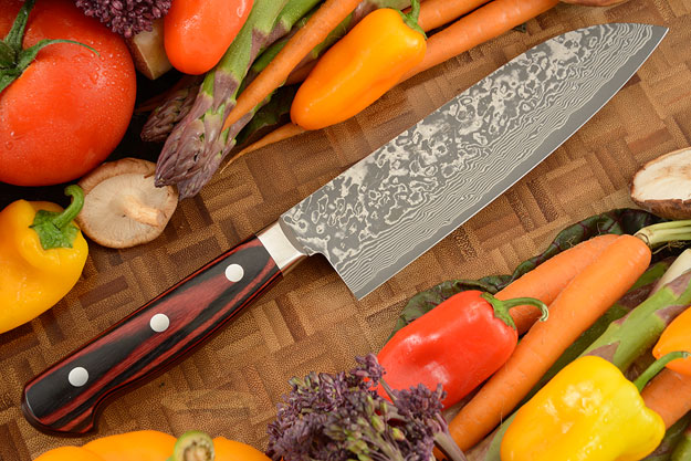 Kintaro Damascus Chef's Knife (Santoku) - 175mm (7in)
