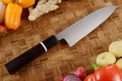 Honyaki Chef's Knife - Santoku, 180mm (7 1/8 in)