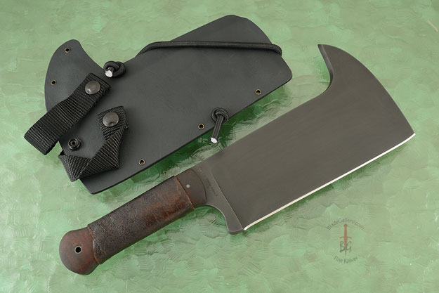 Tactical Cleaver with Maple and Caswell Finish