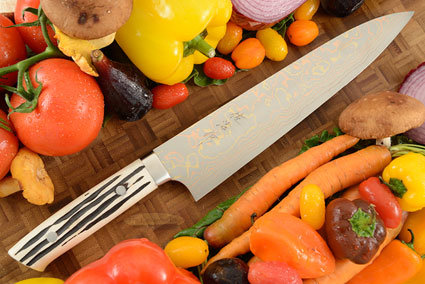 Yushoku Chef's Knife (Gyuto) - 240mm (9-1/2in) - with Stag