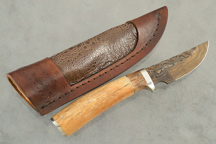 Damascus Hunter with Oosic and Maple Burl