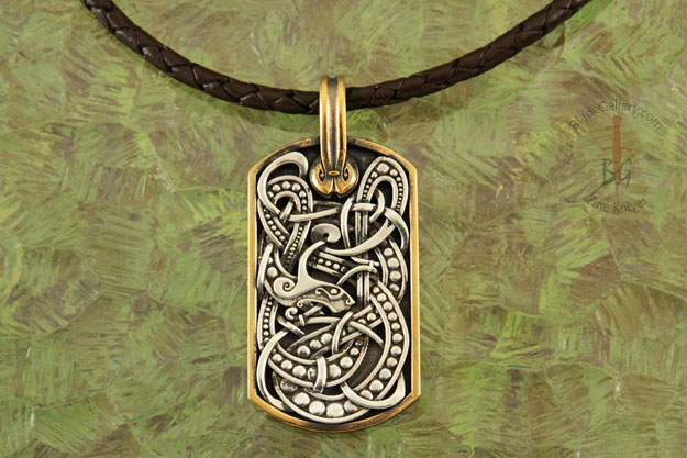 Nordic Serpent Dog Tag