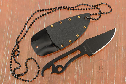 Bottle Opener Neck Knife with Black KG Finish