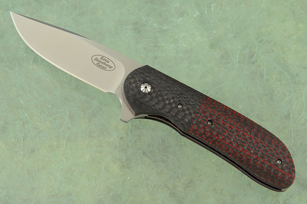 Piuma Flipper (No. 007) with Red Lightning Strike Carbon Fiber (IKBS)