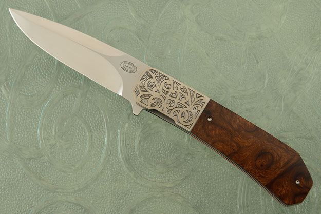 LL14 Flipper with Desert Ironwood and Engraved Zirconium (IKBS)