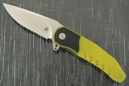 A3 Interframe Flipper with Neon Yellow and Black G10 (Double Row IKBS)