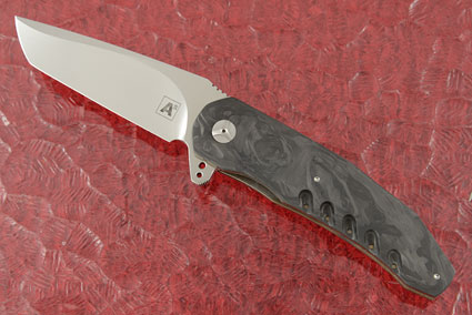 A3 Tanto Flipper with Marbled Carbon Fiber (Double Row IKBS)