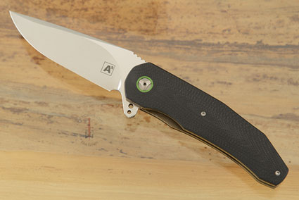 A5 Flipper with Black and Neon Green G10 (IKBS)