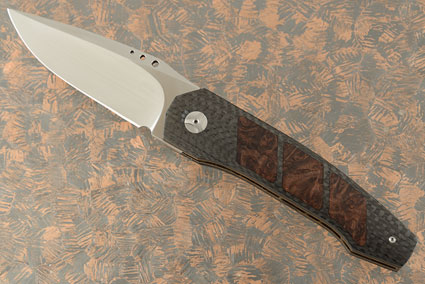 Grizzly Tactical Interframe Front Flipper with Carbon Fiber and Oregon Maple Burl (IKBS)