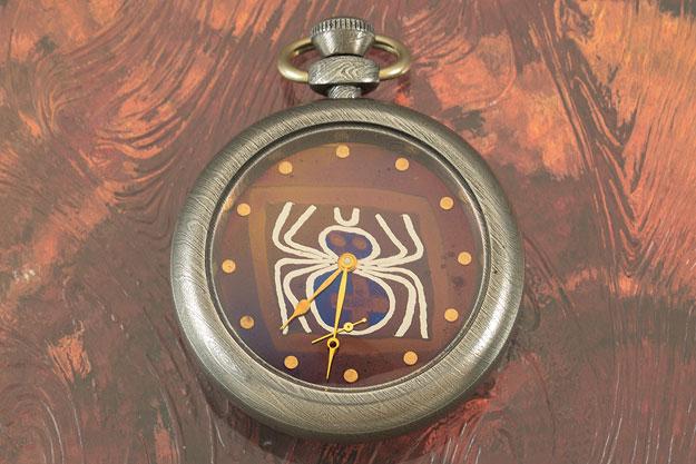 Spider Skeleton Pocket Watch
