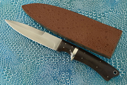 Boot Dagger with Green Canvas Micarta
