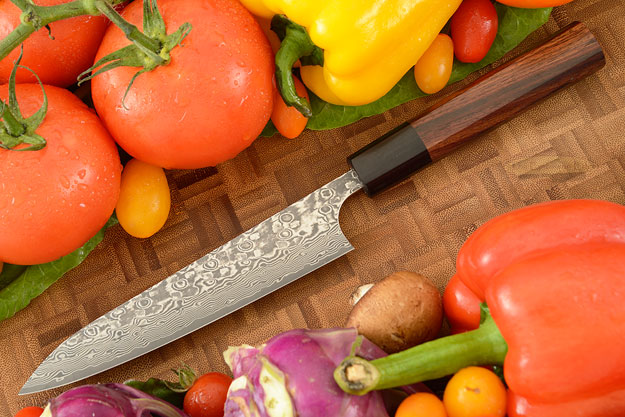 Kintaro Damascus Slicing Knife (Petty) - 150mm (6in)