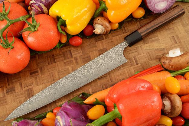 Kintaro Damascus Slicing Knife (Sujihiki) - 270mm (10-2/3in)