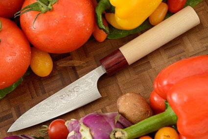 Asai Enji Damascus Paring Knife (Petty) - 3 3/4 in. (95mm)