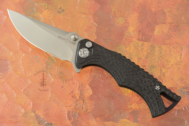 Tighe Fighter, Small with Drop Point Blade - Carbon Fiber Handle