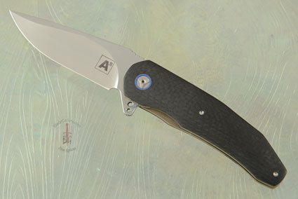 A5 Flipper with Black Carbon Fiber and Blue G10 (IKBS)