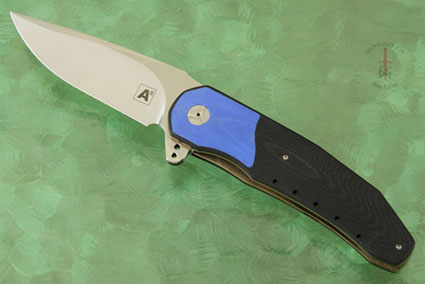 A3 Interframe Flipper with Black G10 and Blue G10 (Double Row IKBS)