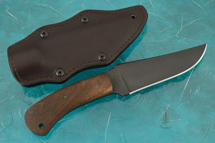 Belt Knife with Walnut and Caswell Finish
