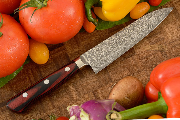 Kintaro Damascus Utility Knife (Petty) - 120mm (4-3/4in)