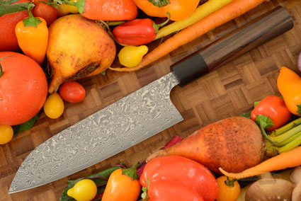 Kintaro Damascus Chef's Knife (Santoku) - 170mm (7-1/8in)