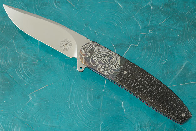 L28L Flipper with Silver Strike Carbon Fiber and Zirconium (IKBS)