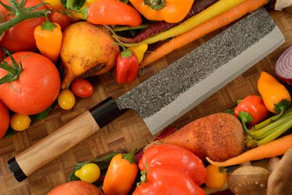 Damascus SLD Chef's Knife - Nakiri - 7-1/8 in. (180mm)