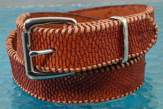 Beaver Tail Leather Belt (US Belt Size 36)