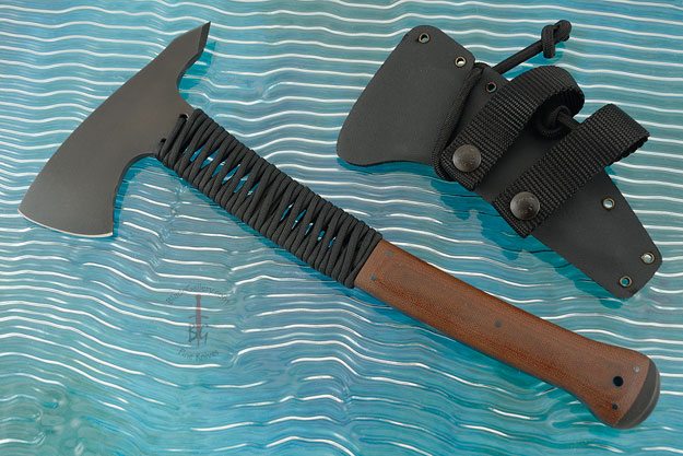Legacy Axe with Tan Micarta, Cord Wrap and Caswell Finish